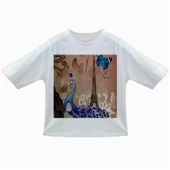 Modern Butterfly  Floral Paris Eiffel Tower Decor Baby T-shirt