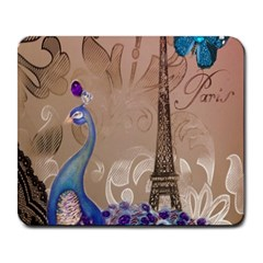 Modern Butterfly  Floral Paris Eiffel Tower Decor Large Mouse Pad (Rectangle)