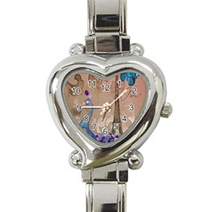 Modern Butterfly  Floral Paris Eiffel Tower Decor Heart Italian Charm Watch