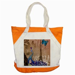 Modern Butterfly  Floral Paris Eiffel Tower Decor Accent Tote Bag