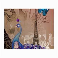 Modern Butterfly  Floral Paris Eiffel Tower Decor Glasses Cloth (Small, Two Sided)