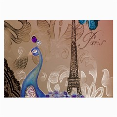 Modern Butterfly  Floral Paris Eiffel Tower Decor Glasses Cloth (Large)