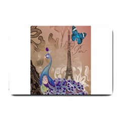 Modern Butterfly  Floral Paris Eiffel Tower Decor Small Door Mat