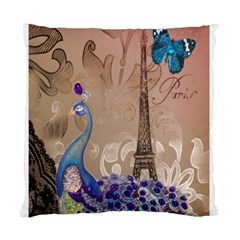 Modern Butterfly  Floral Paris Eiffel Tower Decor Cushion Case (Two Sided)