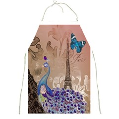 Modern Butterfly  Floral Paris Eiffel Tower Decor Apron