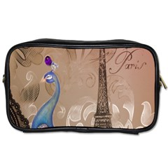 Modern Butterfly  Floral Paris Eiffel Tower Decor Travel Toiletry Bag (One Side)