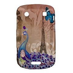 Modern Butterfly  Floral Paris Eiffel Tower Decor BlackBerry Bold Touch 9900 9930 Hardshell Case