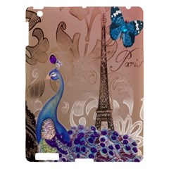 Modern Butterfly  Floral Paris Eiffel Tower Decor Apple iPad 3/4 Hardshell Case