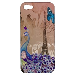 Modern Butterfly  Floral Paris Eiffel Tower Decor Apple iPhone 5 Hardshell Case