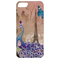 Modern Butterfly  Floral Paris Eiffel Tower Decor Apple iPhone 5 Classic Hardshell Case