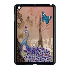 Modern Butterfly  Floral Paris Eiffel Tower Decor Apple iPad Mini Case (Black)
