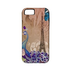 Modern Butterfly  Floral Paris Eiffel Tower Decor Apple iPhone 5 Classic Hardshell Case (PC+Silicone)
