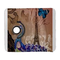 Modern Butterfly  Floral Paris Eiffel Tower Decor Samsung Galaxy S  III Flip 360 Case