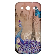 Modern Butterfly  Floral Paris Eiffel Tower Decor Samsung Galaxy S3 S Iii Classic Hardshell Back Case