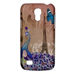 Modern Butterfly  Floral Paris Eiffel Tower Decor Samsung Galaxy S4 Mini Hardshell Case