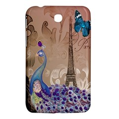 Modern Butterfly  Floral Paris Eiffel Tower Decor Samsung Galaxy Tab 3 (7 ) P3200 Hardshell Case