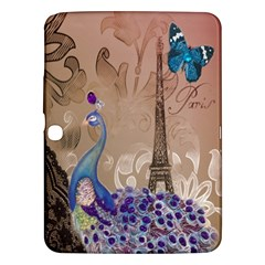 Modern Butterfly  Floral Paris Eiffel Tower Decor Samsung Galaxy Tab 3 (10 1 ) P5200 Hardshell Case
