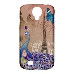 Modern Butterfly  Floral Paris Eiffel Tower Decor Samsung Galaxy S4 Classic Hardshell Case (pc+silicone)