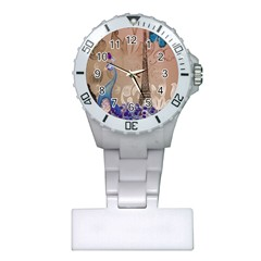 Modern Butterfly  Floral Paris Eiffel Tower Decor Nurses Watch