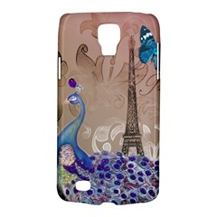 Modern Butterfly  Floral Paris Eiffel Tower Decor Samsung Galaxy S4 Active (I9295) Hardshell Case