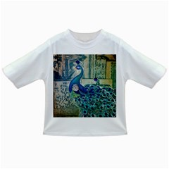 French Scripts Vintage Peacock Floral Paris Decor Baby T-shirt