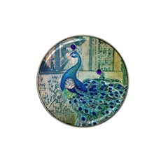 French Scripts Vintage Peacock Floral Paris Decor Golf Ball Marker 4 Pack (for Hat Clip)