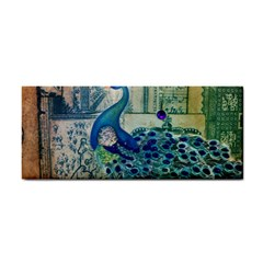 French Scripts Vintage Peacock Floral Paris Decor Hand Towel