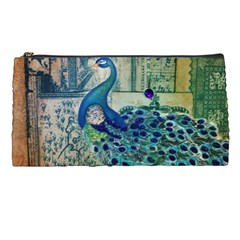 French Scripts Vintage Peacock Floral Paris Decor Pencil Case