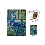 French Scripts Vintage Peacock Floral Paris Decor Playing Cards (Mini) Back