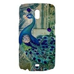 French Scripts Vintage Peacock Floral Paris Decor Samsung Galaxy Nexus i9250 Hardshell Case