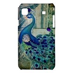 French Scripts Vintage Peacock Floral Paris Decor Samsung Galaxy S i9008 Hardshell Case