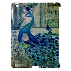 French Scripts Vintage Peacock Floral Paris Decor Apple Ipad 3/4 Hardshell Case (compatible With Smart Cover)