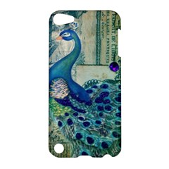 French Scripts Vintage Peacock Floral Paris Decor Apple iPod Touch 5 Hardshell Case