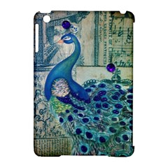 French Scripts Vintage Peacock Floral Paris Decor Apple Ipad Mini Hardshell Case (compatible With Smart Cover)