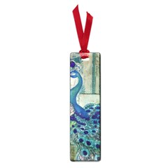 French Scripts Vintage Peacock Floral Paris Decor Small Bookmark