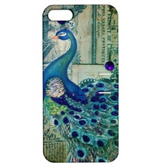 French Scripts Vintage Peacock Floral Paris Decor Apple iPhone 5 Hardshell Case with Stand