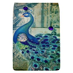 French Scripts Vintage Peacock Floral Paris Decor Removable Flap Cover (small)