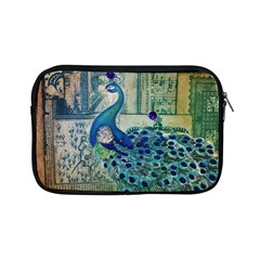 French Scripts Vintage Peacock Floral Paris Decor Apple iPad Mini Zipper Case