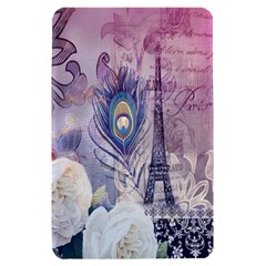 Peacock Feather White Rose Paris Eiffel Tower Kindle Fire Hardshell Case