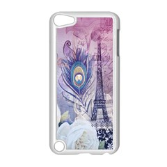 Peacock Feather White Rose Paris Eiffel Tower Apple Ipod Touch 5 Case (white)