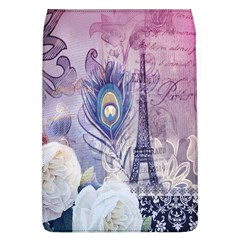 Peacock Feather White Rose Paris Eiffel Tower Removable Flap Cover (large)