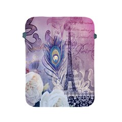 Peacock Feather White Rose Paris Eiffel Tower Apple iPad 2/3/4 Protective Soft Case