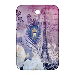 Peacock Feather White Rose Paris Eiffel Tower Samsung Galaxy Note 8.0 N5100 Hardshell Case