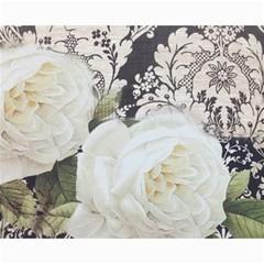 Elegant White Rose Vintage Damask Canvas 16  X 20  (unframed)