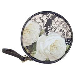 Elegant White Rose Vintage Damask CD Wallet