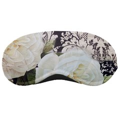 Elegant White Rose Vintage Damask Sleeping Mask