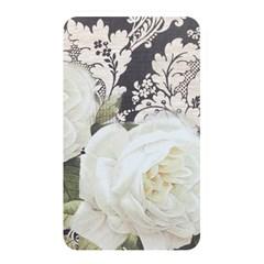 Elegant White Rose Vintage Damask Memory Card Reader (Rectangular)