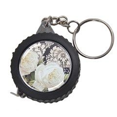 Elegant White Rose Vintage Damask Measuring Tape