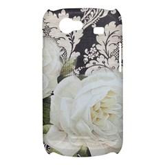 Elegant White Rose Vintage Damask Samsung Galaxy Nexus S i9020 Hardshell Case