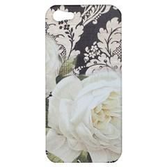 Elegant White Rose Vintage Damask Apple iPhone 5 Hardshell Case